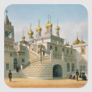 View of the Boyar Palace in the Moscow Kremlin Square Sticker