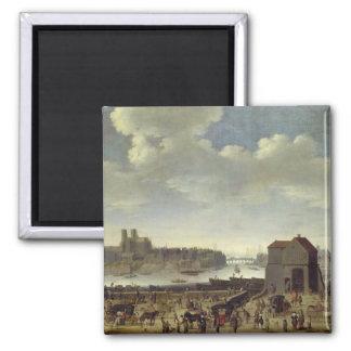 View of the Bridge and Quai de la Tournelle Square Magnet