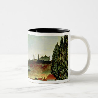 View of the Bridge at Sevres Two-Tone Coffee Mug