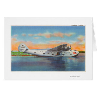 View of the California Clipper Plane Greeting Card