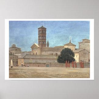 View of the Campanile of Santa Francesca Romana, R Poster