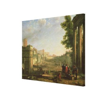 View of the Campo Vaccino, Rome, 1636 Canvas Print