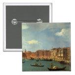 View of the Canal of Santa Chiara, Venice 15 Cm Square Badge