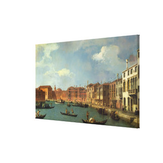 View of the Canal of Santa Chiara, Venice Stretched Canvas Prints
