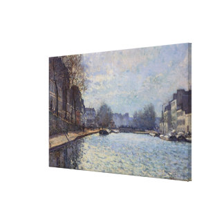 View of the Canal Saint-Martin, Paris, 1870 Gallery Wrap Canvas