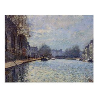 View of the Canal Saint-Martin, Paris, 1870 Postcard