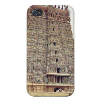 View of the carved exterior of the south gopuram iPhone 4 cases