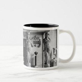 View of the Caryatids Tribune Two-Tone Coffee Mug