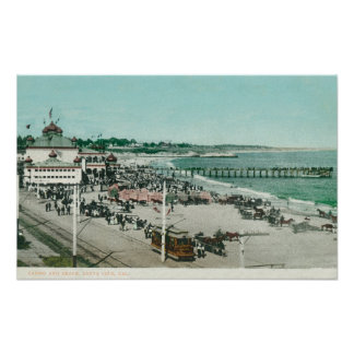 View of the Casino, Beach, and Pier Poster
