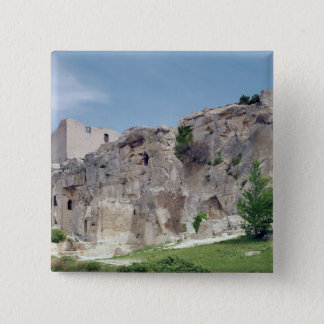 View of the castle 15 cm square badge
