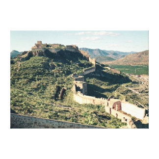 View of the castle, 8th-12th century canvas print