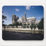 View of the Cathedral from the Seine, 1163-1345 Mousepad