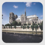 View of the Cathedral from the Seine, 1163-1345 Square Sticker