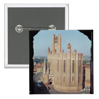 View of the Cathedral of Sainte-Cecile 15 Cm Square Badge