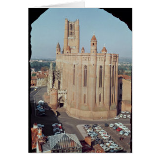 View of the Cathedral of Sainte-Cecile Greeting Card