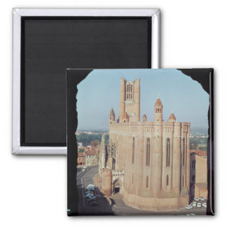 View of the Cathedral of Sainte-Cecile Square Magnet
