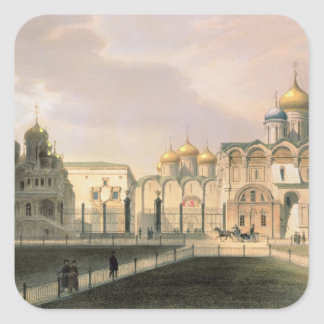 View of the Cathedrals in the Moscow Kremlin Square Sticker