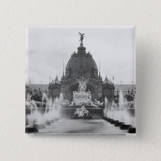 View of the Central Dome and the Fountain 15 Cm Square Badge