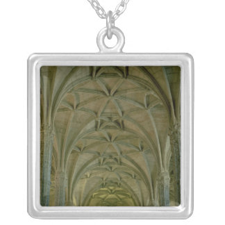 View of the central nave silver plated necklace