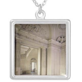 View of the central vestibule, built 1642-51 silver plated necklace