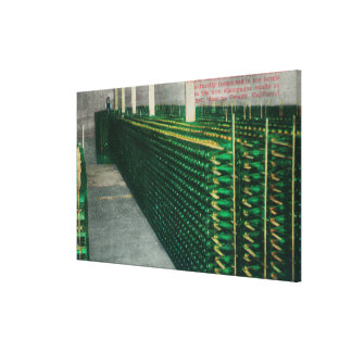 View of the Champagne VaultsAsti, CA Gallery Wrap Canvas