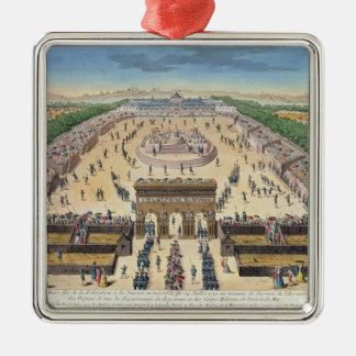 View of the Champs de Mars, 14th July 1790 Silver-Colored Square Decoration