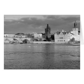 View of the Charles Bridge in Prague Card