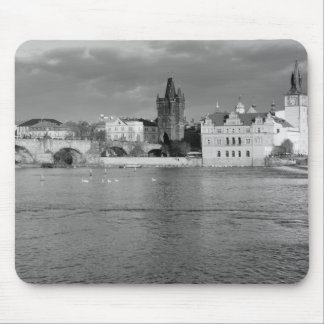 View of the Charles Bridge in Prague Mouse Mat