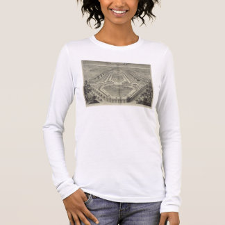 View of the Chateau and Park at Marly, engraved by Long Sleeve T-Shirt