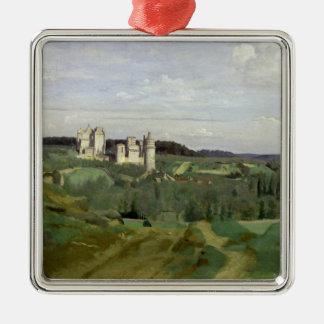 View of the Chateau de Pierrefonds, c.1840-45 Christmas Ornament