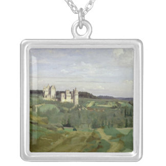 View of the Chateau de Pierrefonds, c.1840-45 Silver Plated Necklace