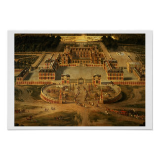 View of the Chateau, Gardens and Park of Versaille Poster