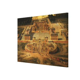 View of the Chateau, Gardens and Park of Versaille Stretched Canvas Prints