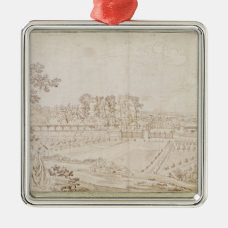 View of the Chateau of Celle-Saint-Cloud, c.1750 Christmas Ornament