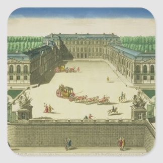 View of the Chateau of St. Cloud, engraved by Anto Square Sticker