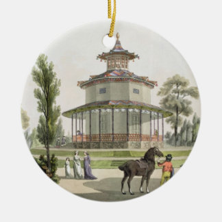 View of the Chinese Summer House, Palace of Lichte Christmas Ornament