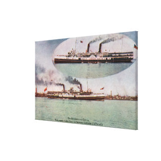 View of the Chippewa and Corona Steamers Canvas Print