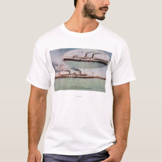View of the Chippewa and Corona Steamers T-Shirt