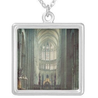 View of the choir silver plated necklace