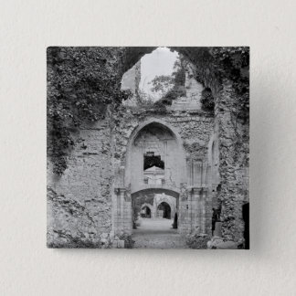 View of the church, c.1052-67 15 cm square badge