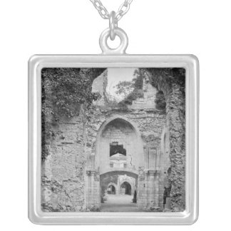 View of the church, c.1052-67 silver plated necklace