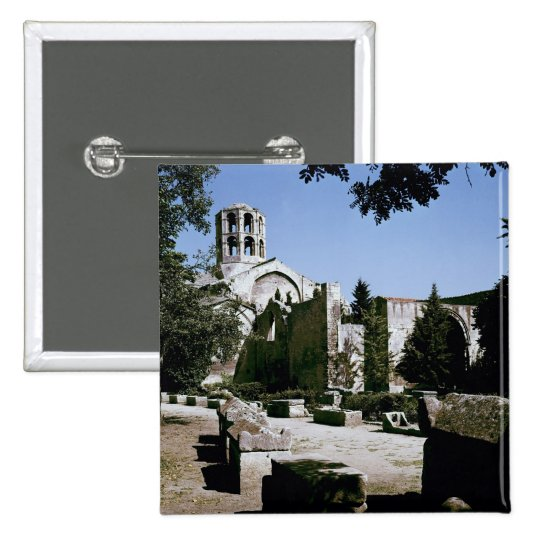 View of the Church of Saint-Honoratus 15 Cm Square Badge