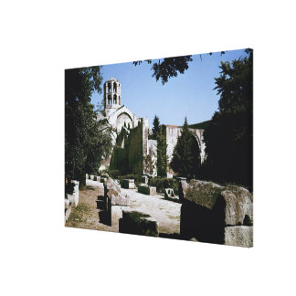 View of the Church of Saint-Honoratus Canvas Print