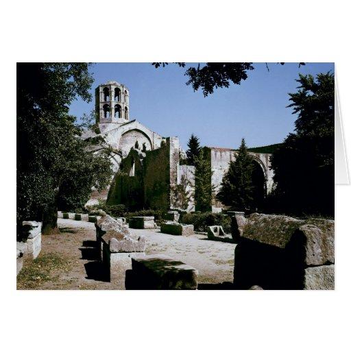 View of the Church of Saint-Honoratus Greeting Card