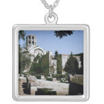 View of the Church of Saint-Honoratus Square Pendant Necklace