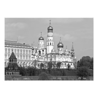 View of the Church of the Moscow Kremlin. Photo Print