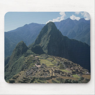 View of the citadel at Machu Picchu Mouse Mat