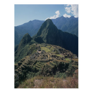 View of the citadel at Machu Picchu Postcard