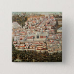View of the city of Damascus 15 Cm Square Badge