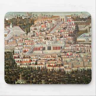 View of the city of Damascus Mouse Mat